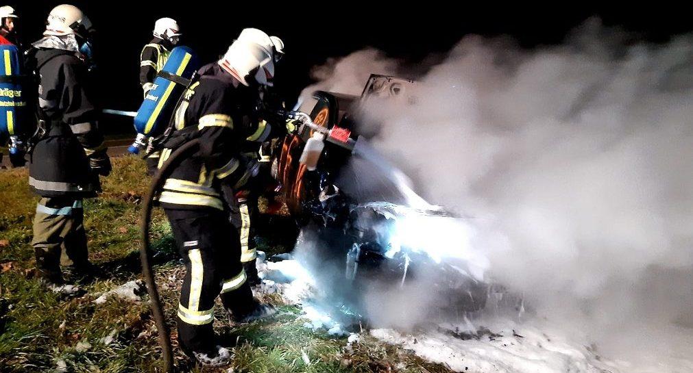 Monatsübung Fahrzeugbrand