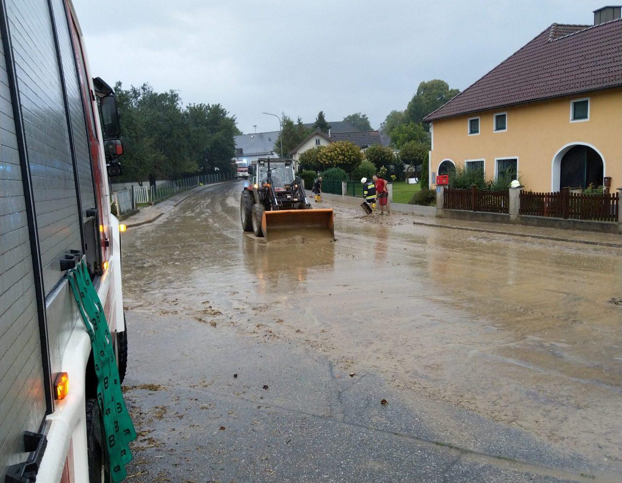 Erneuter Hochwassereinsatz in Matzleinsdorf